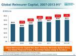 global reinsurer capital 2007 2013 h1