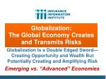 globalization the global economy creates and transmits risks