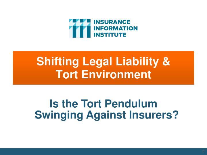 Shifting Legal Liability &