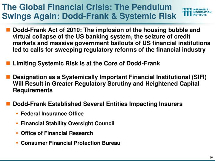The Global Financial Crisis: The Pendulum Swings Again: Dodd-Frank & Systemic Risk