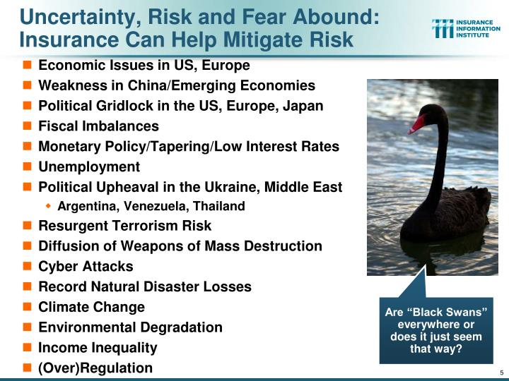 Uncertainty, Risk and Fear Abound: Insurance Can Help Mitigate Risk