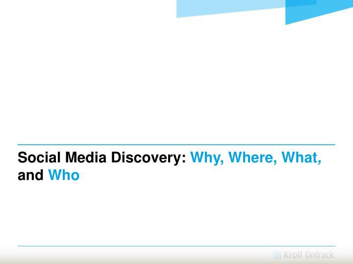 Social Media Discovery: