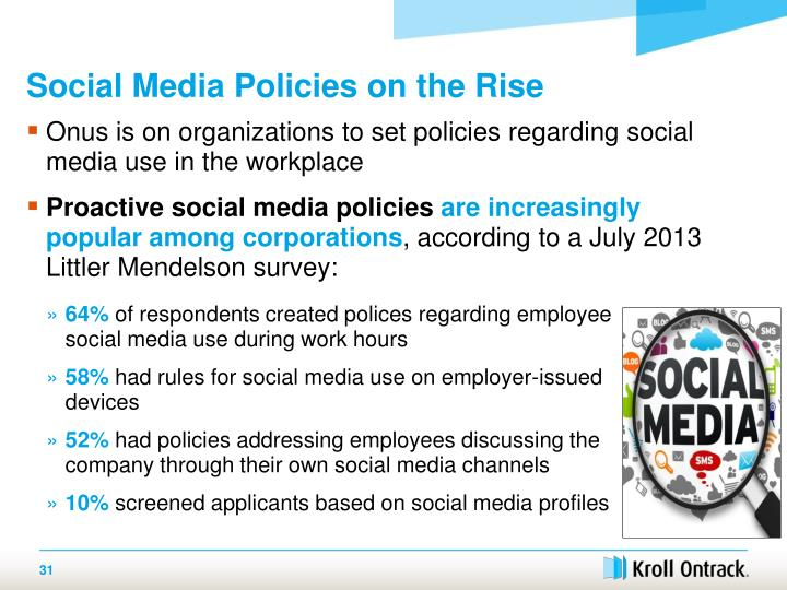 Social Media Policies on the Rise