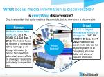 what social media information is discoverable