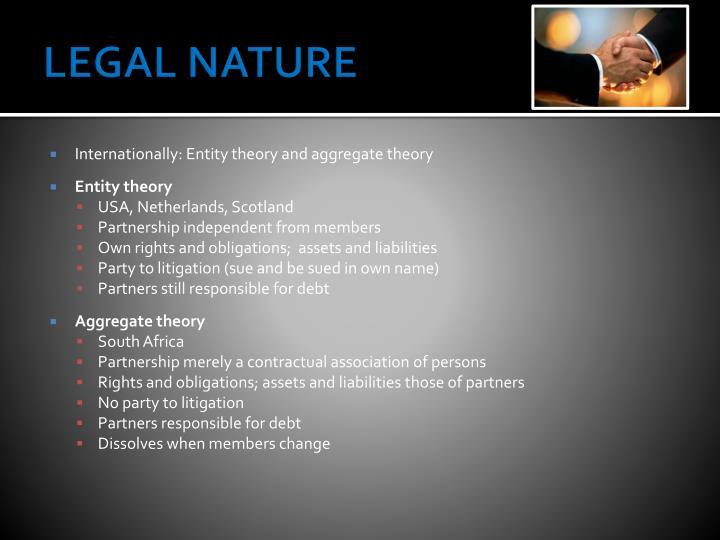 LEGAL NATURE