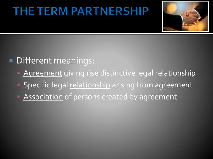 The term partnership