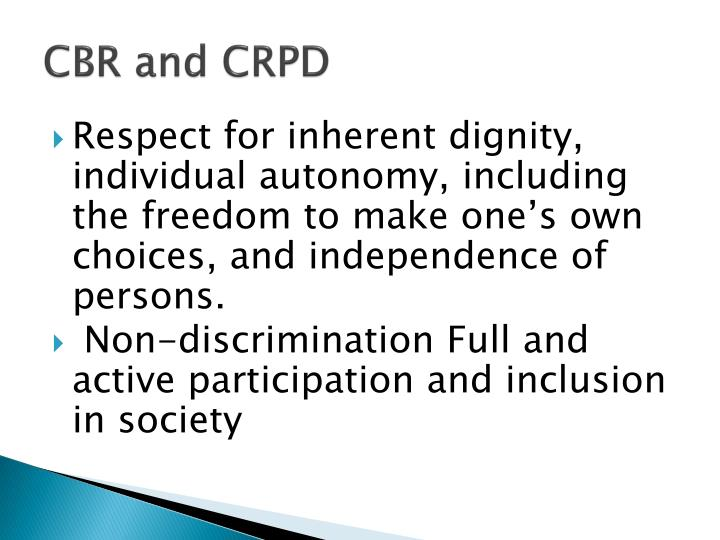 CBR and CRPD
