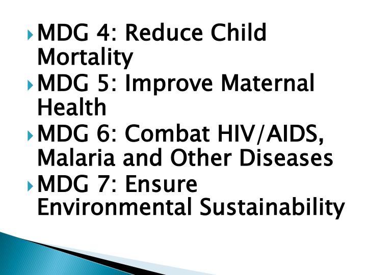 MDG 4: Reduce Child