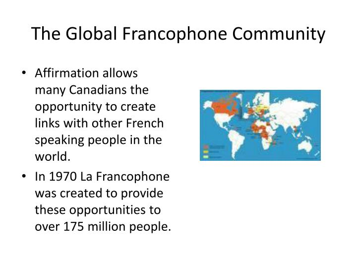 The Global Francophone Community