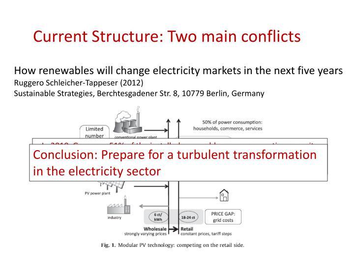 Current Structure: Two main conflicts