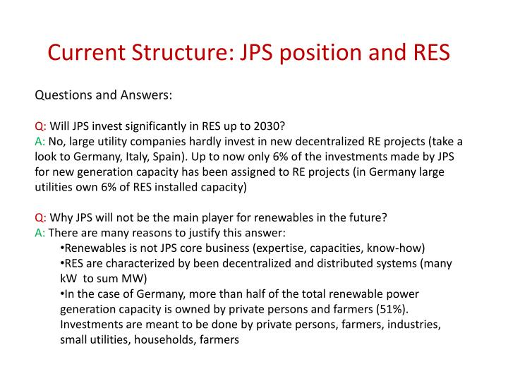 Current Structure: JPS position and RES