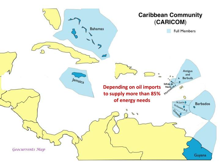 Depending on oil imports to supply more than 85% of energy needs