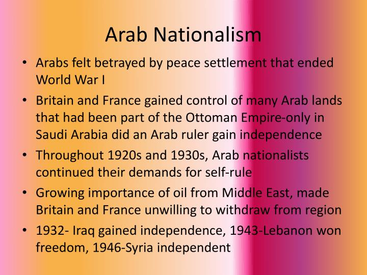 Arab Nationalism