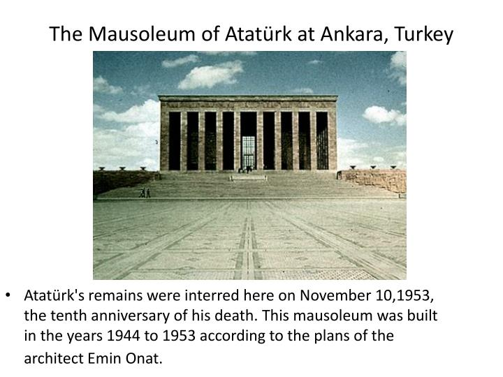The Mausoleum of Atatürk at Ankara, Turkey