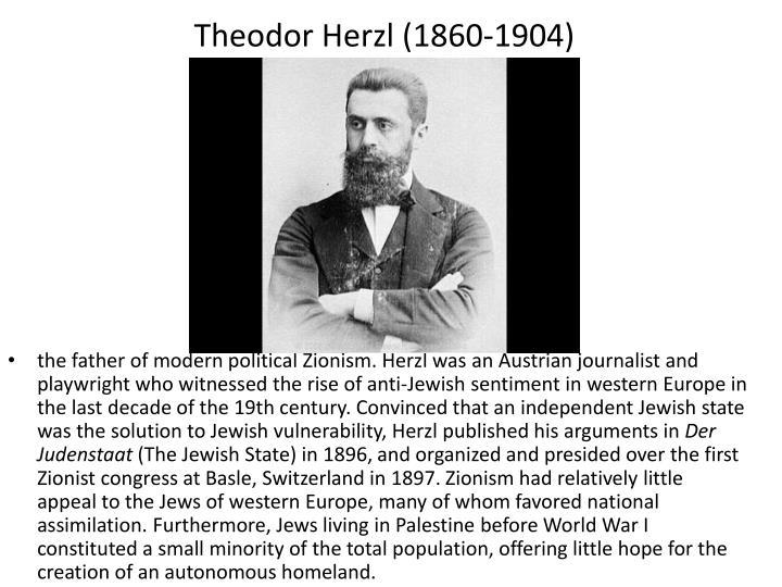 Theodor Herzl (1860-1904)