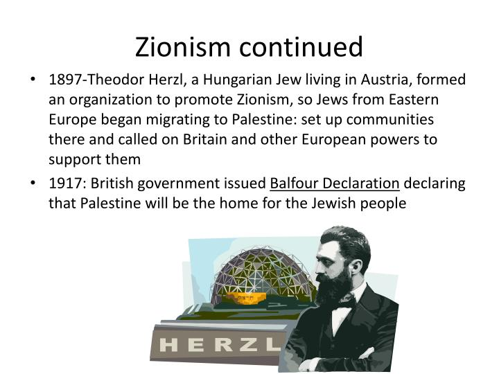 Zionism continued