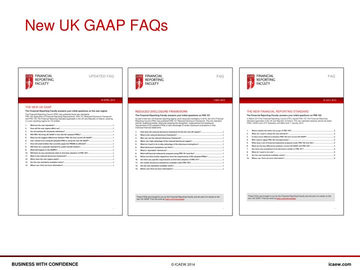 New UK GAAP FAQs
