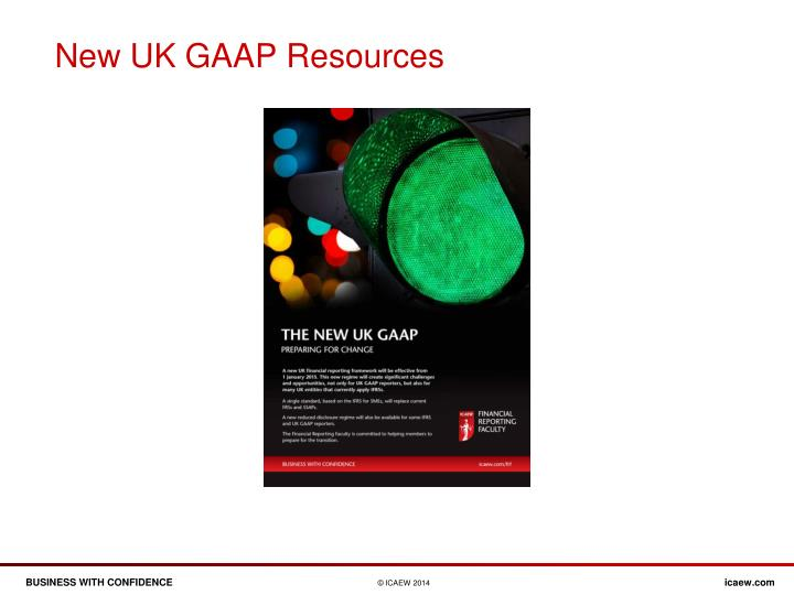 New UK GAAP Resources