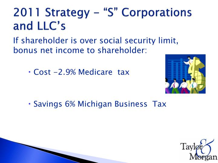 "2011 Strategy - ""S"" Corporations and LLC's"