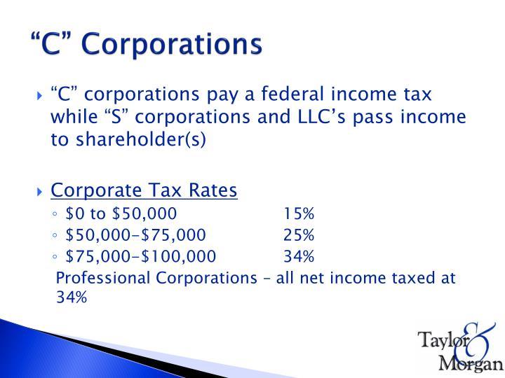 """C"" Corporations"