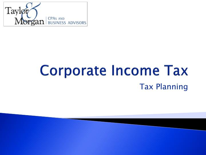 Corporate Income Tax