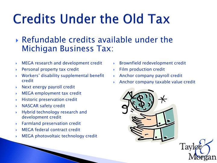 Credits Under the Old Tax