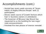 accomplishments cont