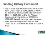 funding history continued