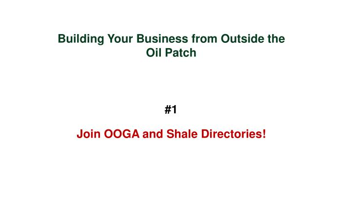 Building Your Business from Outside the