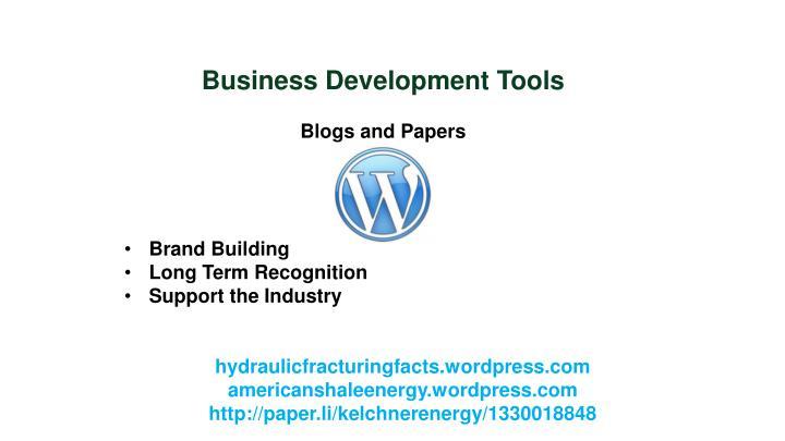 Business Development Tools