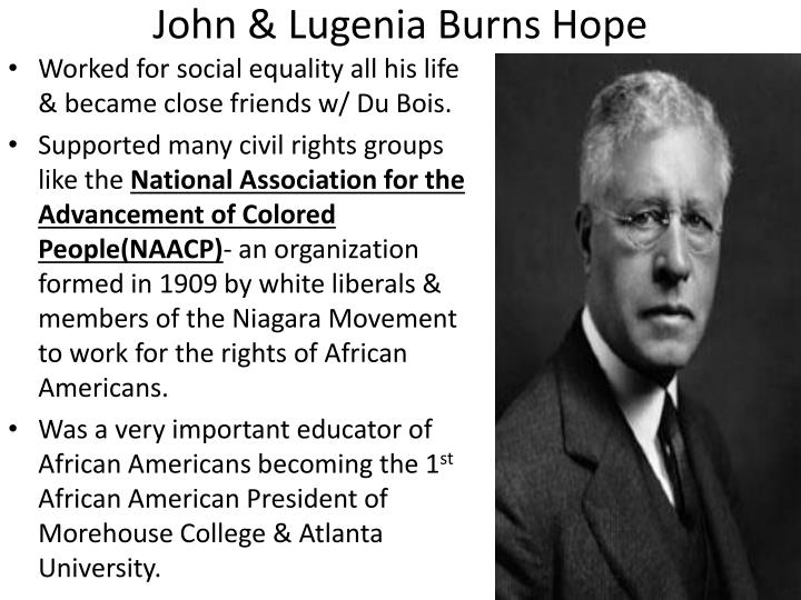 John & Lugenia Burns Hope