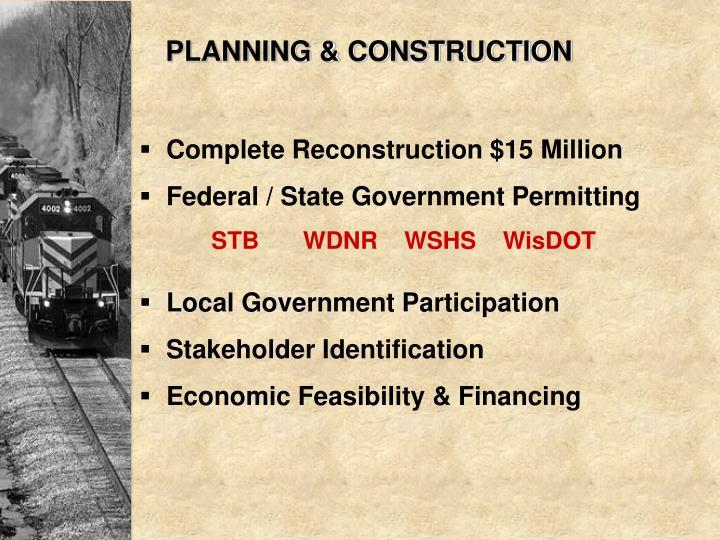 PLANNING & CONSTRUCTION