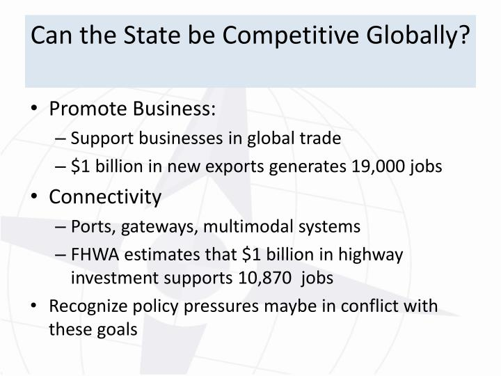 Can the State be Competitive Globally?