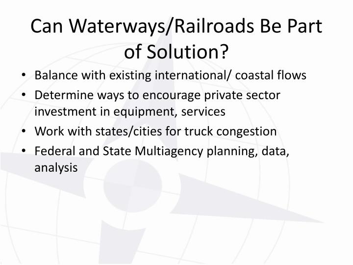 Balance with existing international/ coastal flows