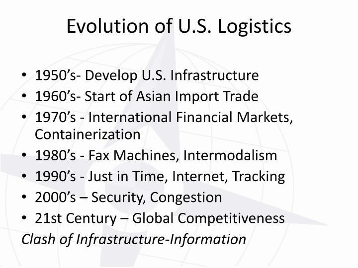 Evolution of U.S. Logistics