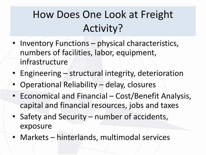 How Does One Look at Freight Activity?