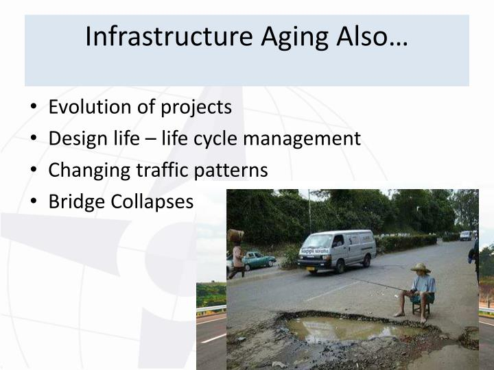 Infrastructure Aging Also…