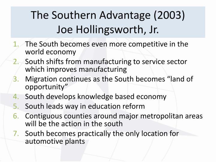 The Southern Advantage (2003)