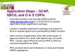 application steps gcap sbcg and o s cdfis
