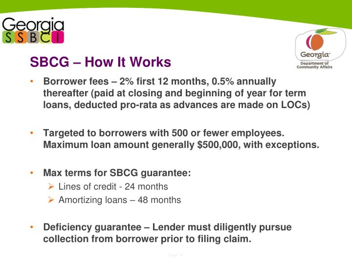 SBCG – How It Works