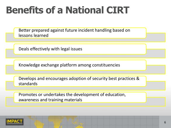 Benefits of a National CIRT