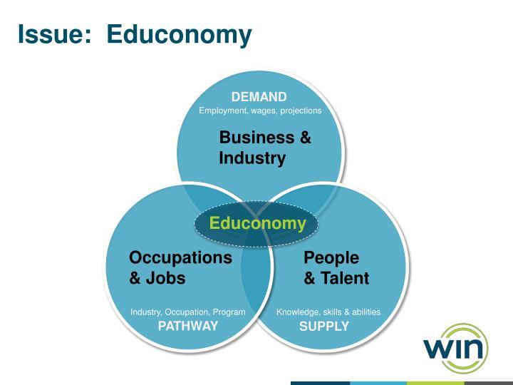 Issue:  Educonomy