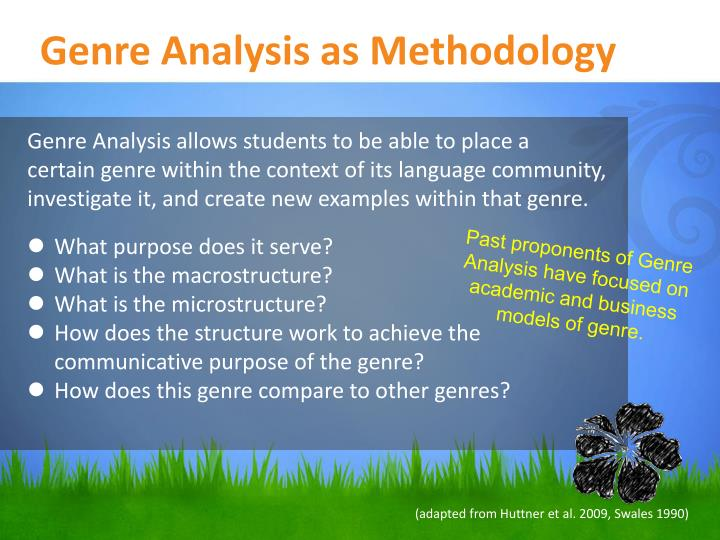 Genre Analysis as Methodology