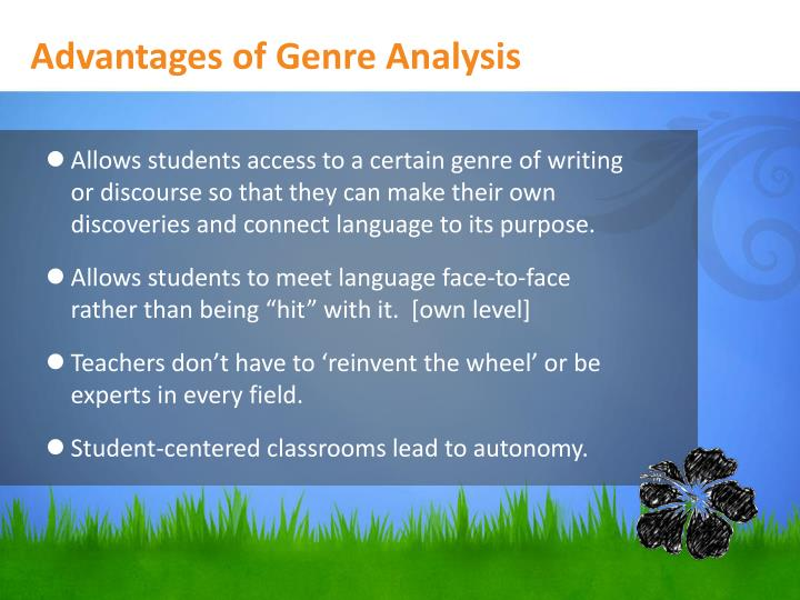 Advantages of Genre Analysis