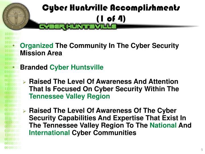 Cyber Huntsville Accomplishments