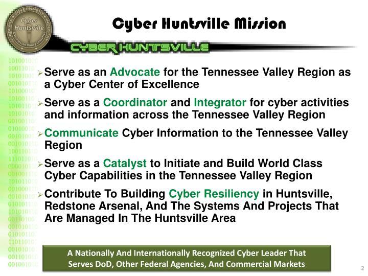 Cyber Huntsville Mission