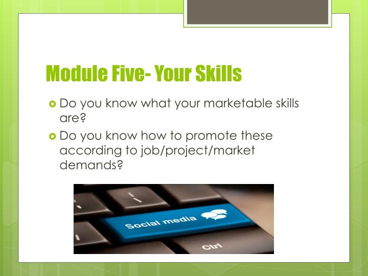 Module Five- Your Skills