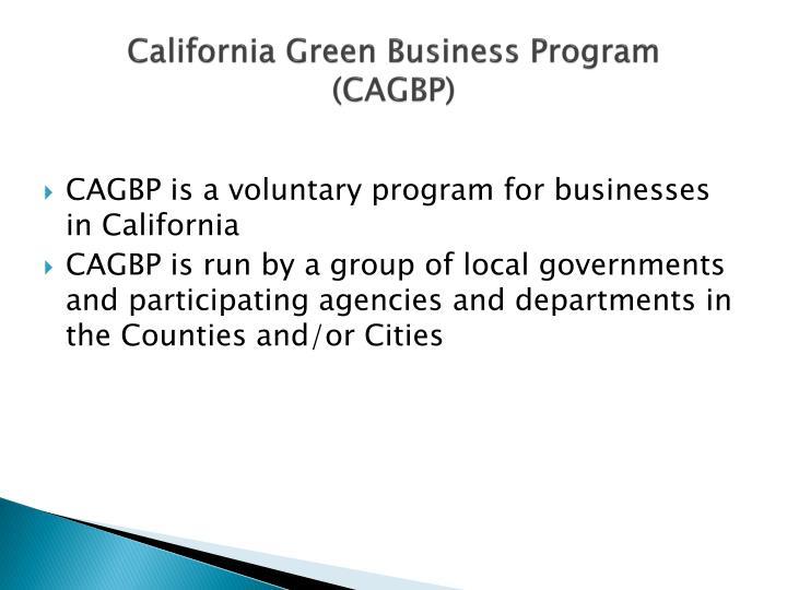 California Green Business Program