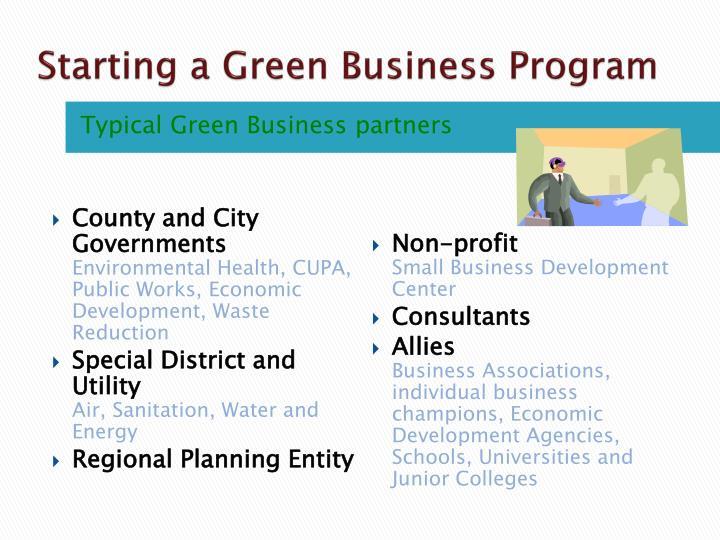 Starting a Green Business Program