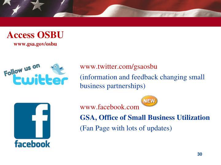 Access OSBU